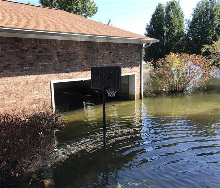 flooded home garage